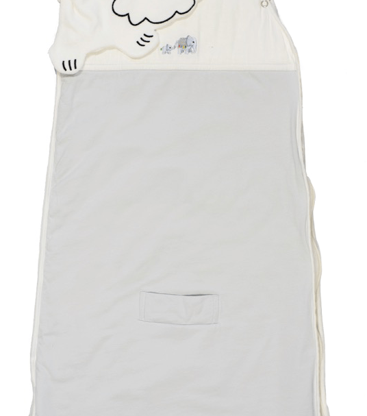 Embroidered safari bamboo sleeping bags in Grey by Little Earth Baby at Nurture Collective