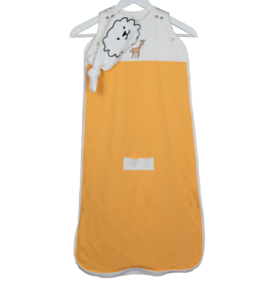 Embroidered safari bamboo sleeping bags in Yellow by Little Earth Baby at Nurture Collective