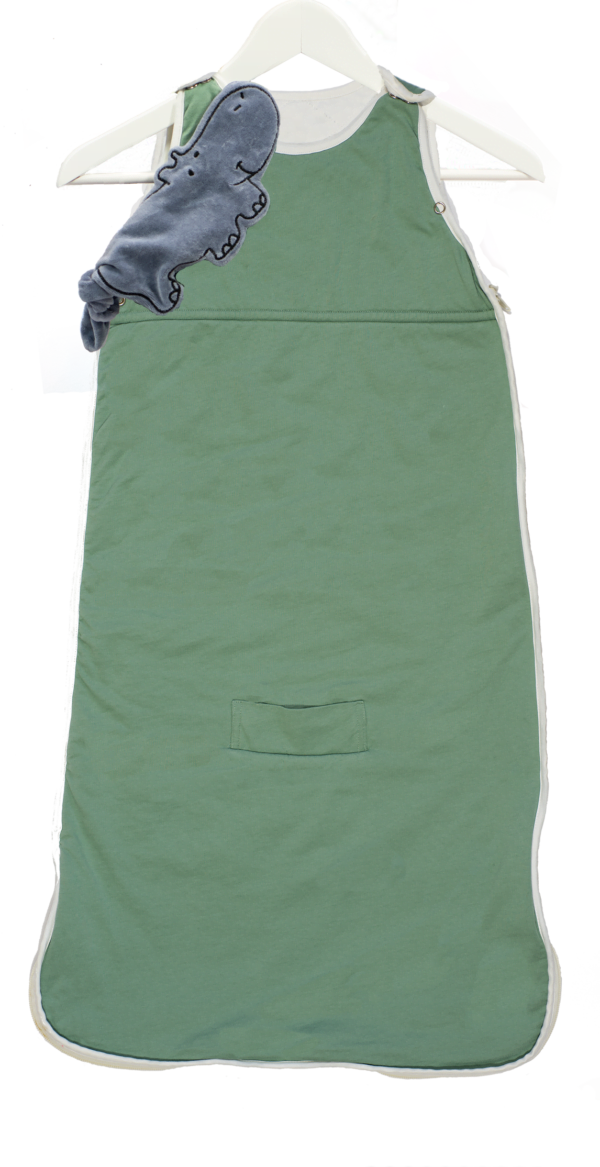 Simple savannah bamboo sleeping bags in Green by Little Earth Baby at Nurture Collective
