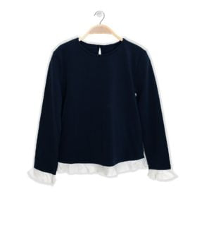 Candy Shirt Navy for girls by Peter Jo at Nurture Collective