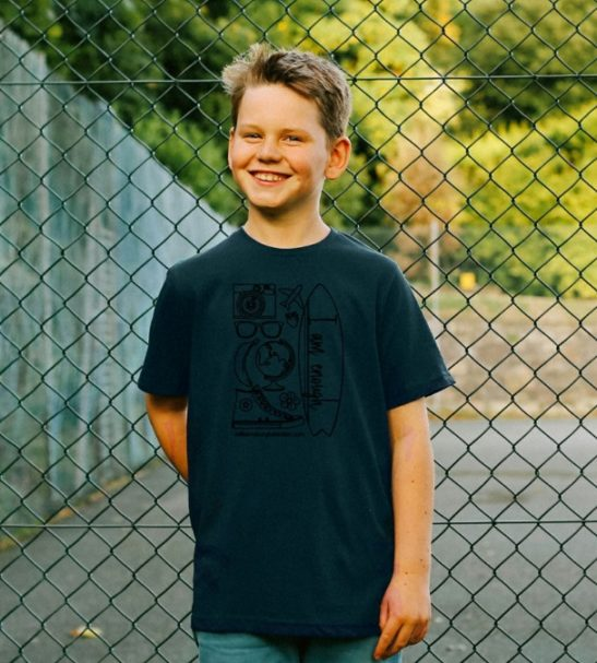 I am Enough - Organic t-shirt Shirt for Kids in short sleeves at Nurture Collective