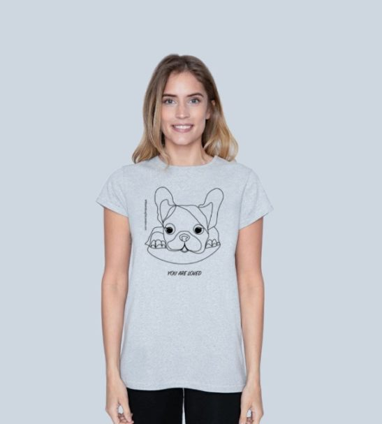 You Are Loved - Organic Grey Womens Short Sleeved T-Shirt at Nurture Collective