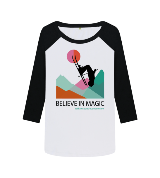 Believe in Magic Organic Baseball Shirt for Women at Nurture Collective