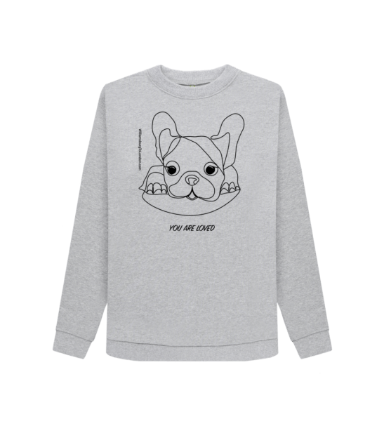 You Are Loved - Organic Grey Marl Womens Sweatshirt at Nurture Collective