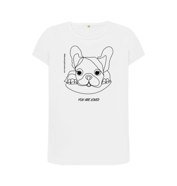 You Are Loved - Organic White Womens Short Sleeved T-Shirt at Nurture Collective