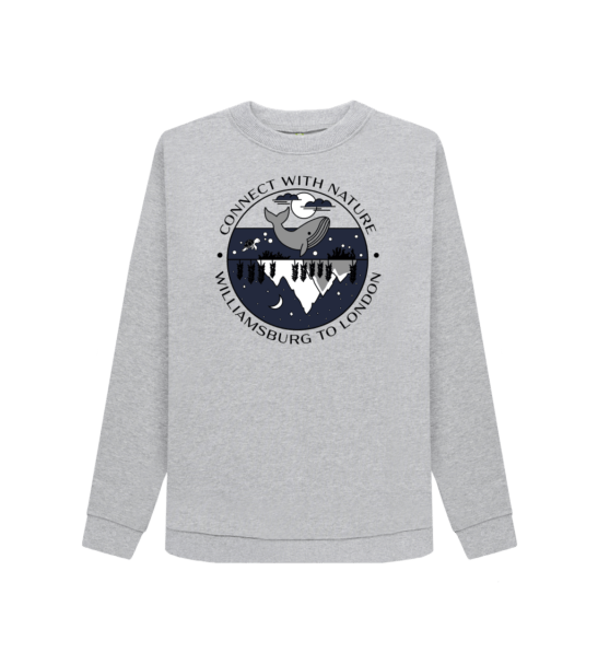 Connect With Nature - Organic Sweatshirt for Women at Nurture Collective