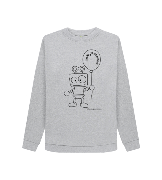 Smile for no Reason - Organic Sweatshirt for Women at Nurture Collective