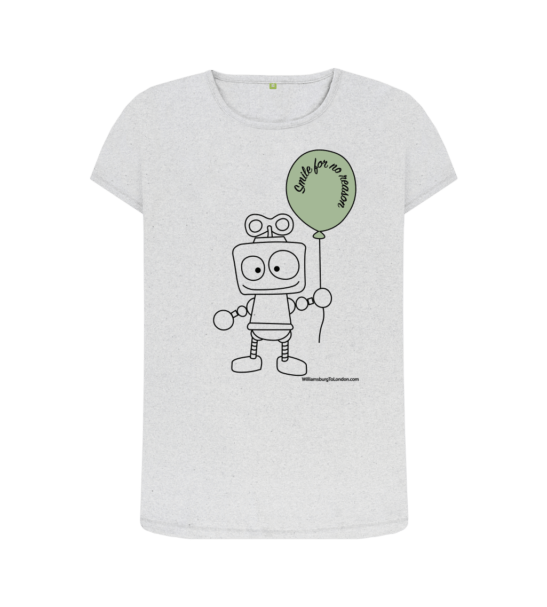 Smile for no Reason Circular Economy - Organic T-Shirt for Women at Nurture Collective
