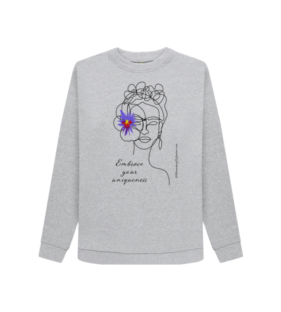 Embrace Your Uniqueness / Frida - Organic Sweater for Women at Nurture Collective