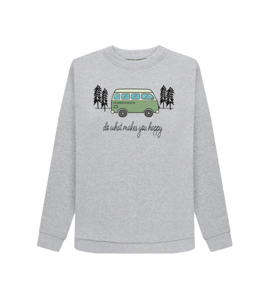Do What Makes You Happy - Organic Sweatshirt for Women short sleeves and design