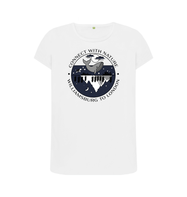 Connect With Nature - Organic T-Shirt for Women short sleeves and design