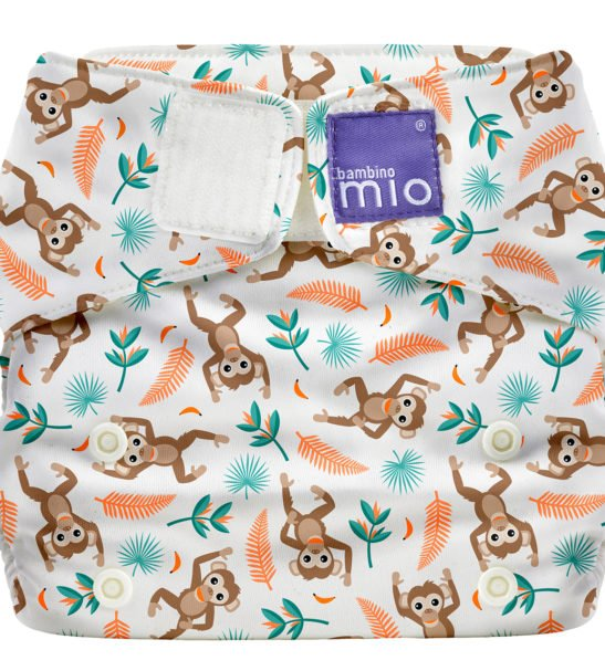 BAMBINO MIO MIOSOLO ALL-IN-ONE REUSABLE NAPPY, Spider Monkey at Nurture Collective