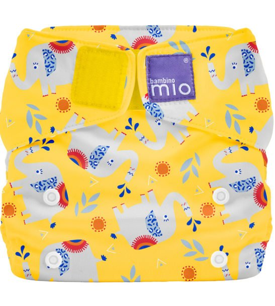 Elephant Stomp Bambino Mio Solo all in one Reusable Nappy At Nurture Collective