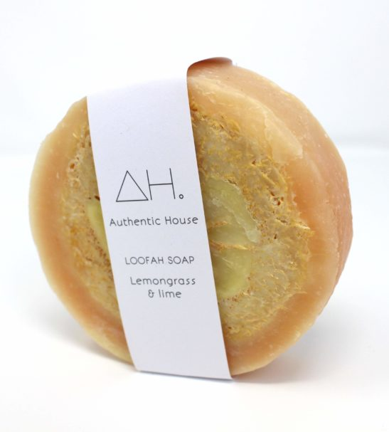 Lemongrass and lime loofah white at Nurture Collective