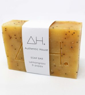 Lemongrass poppy soap bar at Nurture Collective