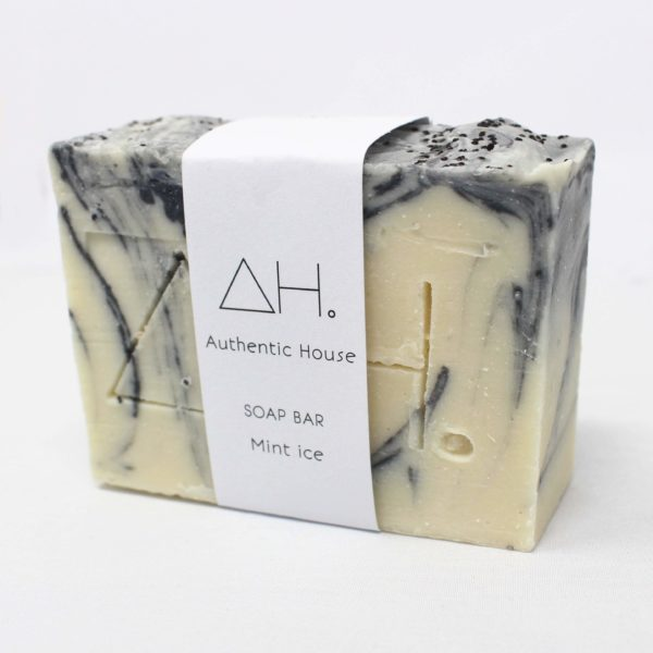 Mint ice soap bar at Nurture Collective