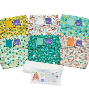 BAMBINO MIO MIOSOLO REUSABLE NAPPY SET, RAINFOREST at Nurture Collective