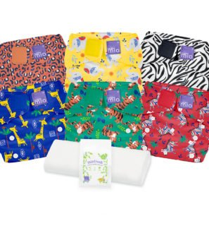 BAMBINO MIO MIOSOLO REUSABLE NAPPY SET, Safari Celebration at Nurture Collective