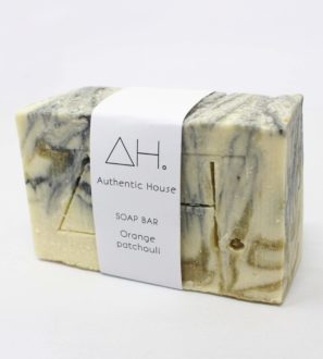 Orange patchouli soap bar at Nurture Collective