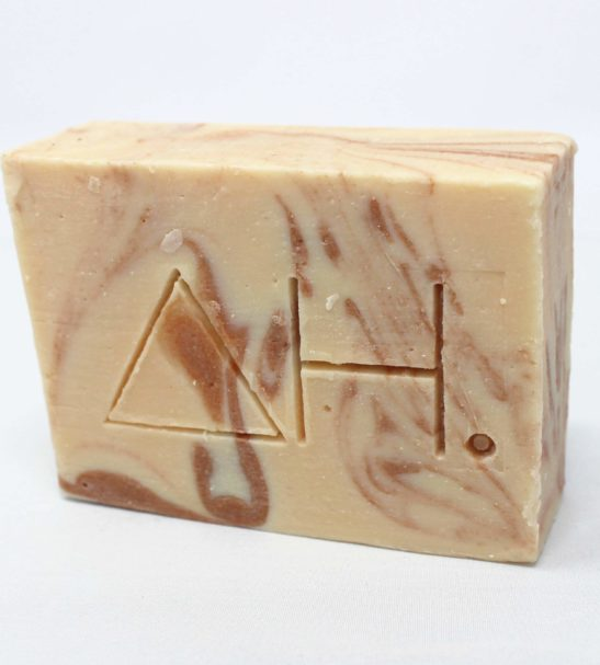 Pink clay soap bar at Nurture Collective