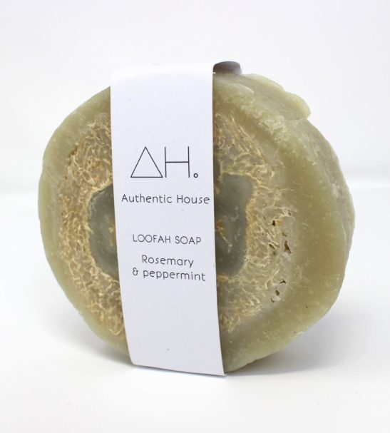 Rosemary _ peppermint loofah soap at Nurture Collective