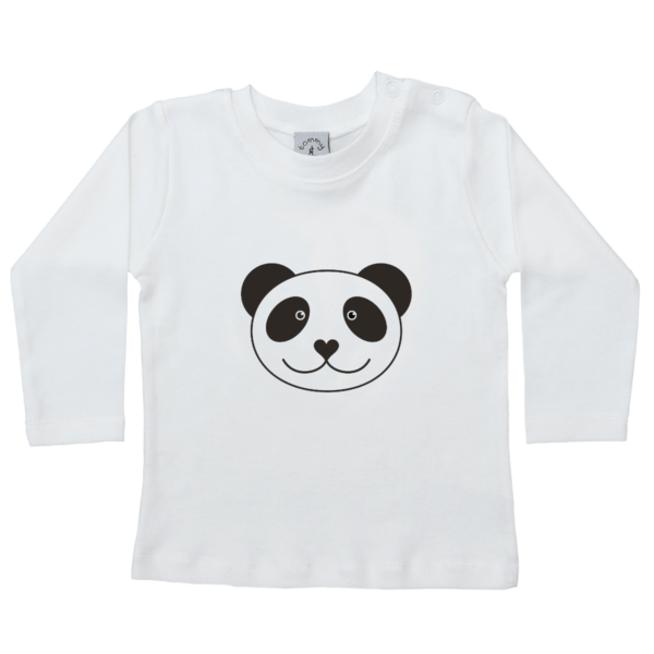 Long Sleeved Panda T-shirt by Tommy & Lottie at Nurture Collective