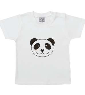 Short Sleeved Panda T-shirt by Tommy & Lottie at Nurture Collective