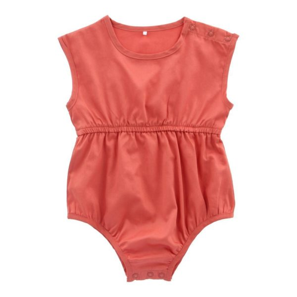 Hunter + Boo Short Playsuit - Terracotta at Nurture Collective