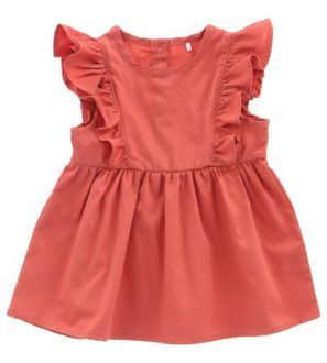 Hunter + Boo Frill Dress - Terracotta at Nurture Collective