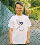 Kid wearing the Be Kind Organic T-shirt for Kids by Williamsburg to London at Nurture Collective