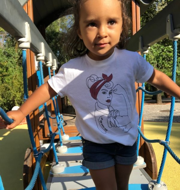 We Can Do it - Organic T-shirt for Kids by Williamsburg to London at Nurture Collective