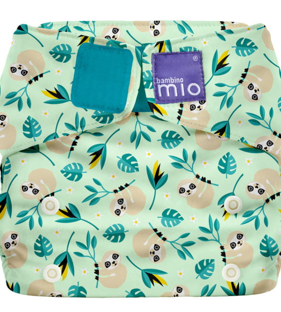 BAMBINO MIO MIOSOLO ALL-IN-ONE REUSABLE NAPPY, Swinging Sloth at Nurture Collective