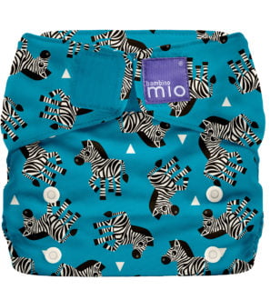 BAMBINO MIO MIOSOLO ALL-IN-ONE REUSABLE NAPPY, Zebra Crossing at Nurture Collective