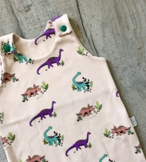 Gantheaume Dinosaur Romper by Little Drop at Nurture Collective