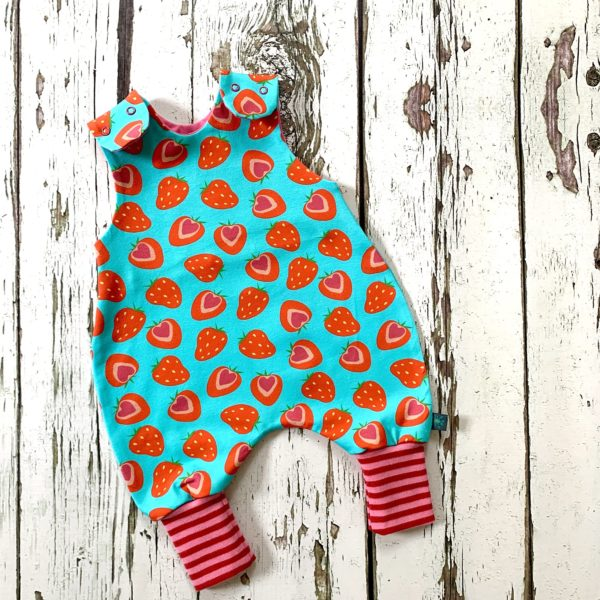 Strawberry Romper by Maebelle & Bo at Nurture Collective