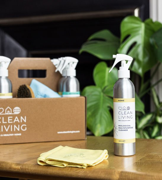 A full set of Clean Living products in a Clean Living Caddie at Nurture Collective