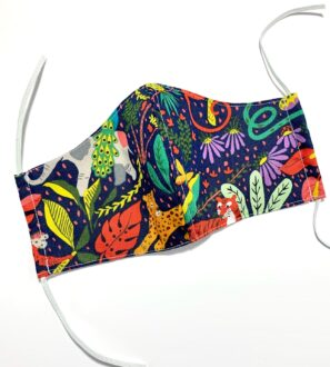 Reusable Organic Jungle Face Covering with Filter Pocket by Squidge & Smudge at Nurture Collective