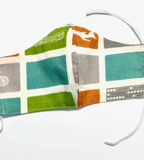 Reusable Organic Transport Face Mask Covering with Filter Pocket by Squidge & Smudge at Nurture Collective