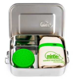 mintie snug set stainless steel lunchbox at Nurture Collective