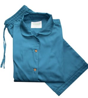 Ocean Blue Adult Pyjama Set by Little Leaf Organics at Nurture Collective