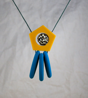Baby Friendly Silicone Necklace - Dreamcatcher Mustard Teal | New Mum Gift by Kodes at Nurture Collective