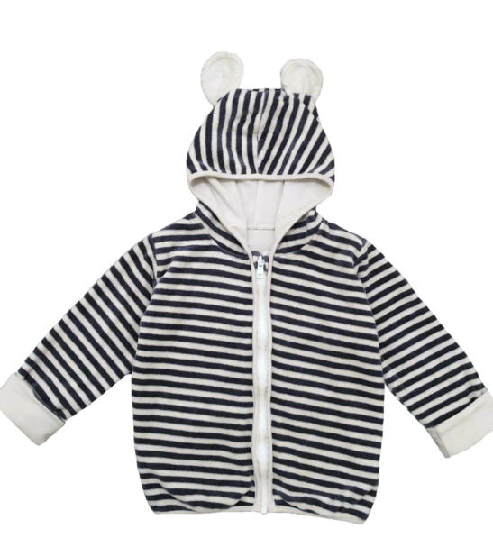 Organic Velour Stripy Jackets by Little Earth Baby at Nurture Collective
