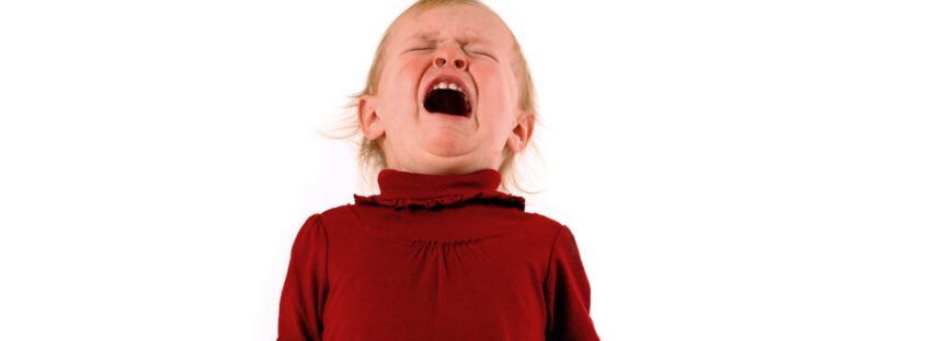 toddler girl crying having a tantrum for tantrum blog for Nurture Collective