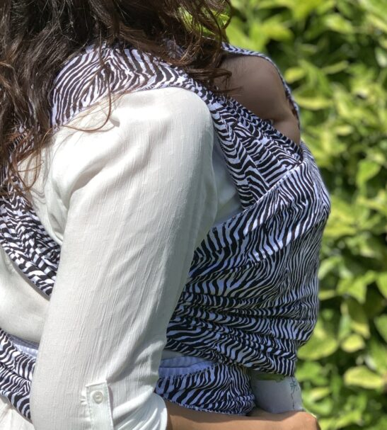Zebra Sling Baby Wrap by Amawraps at Nurture Collective