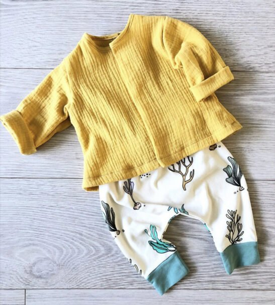 Breeze top in Mustard by Little Drop at Nurture Collective