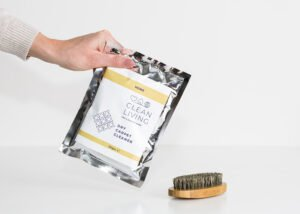 Dry Carpet Cleaner & Wooden Brush by Cleaning Living at Nurture Collective