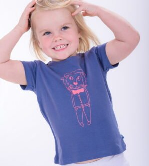 Girl wearing Smart Lion T-Shirt - Unisex by Cooee Kids at Nurture Collective