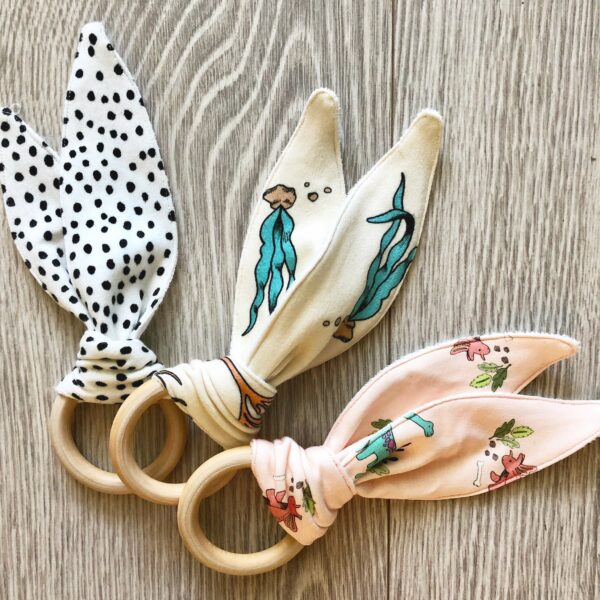 Bunny Ear Teethers by Little Drop at Nurture Collective