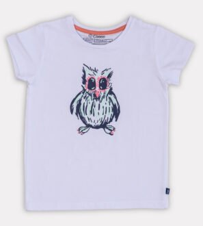 Clever Owl T-Shirt- Unisex in White by Cooee Kids at Nurture Collective
