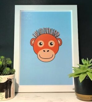 Orangutan Print Framed by Tommy & Lottie at Nurture Collective